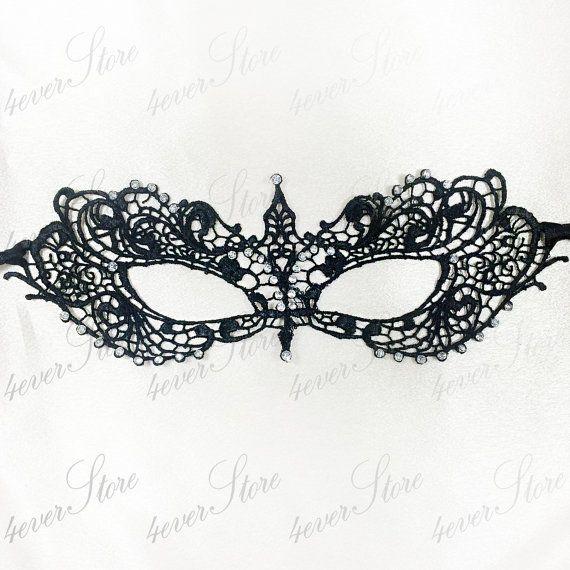black lace masquerade mask elegant minimalist by 4everstore 19 95