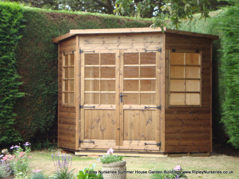 tilford corner summerhouse 7x7 summer housesgarden buildingsshedsnurseries - Corner Garden Sheds 7x7