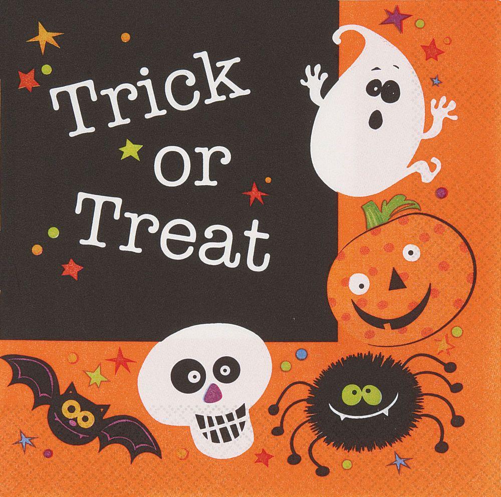 20 x halloween party paper napkins *spooky smiles* free p&p kids