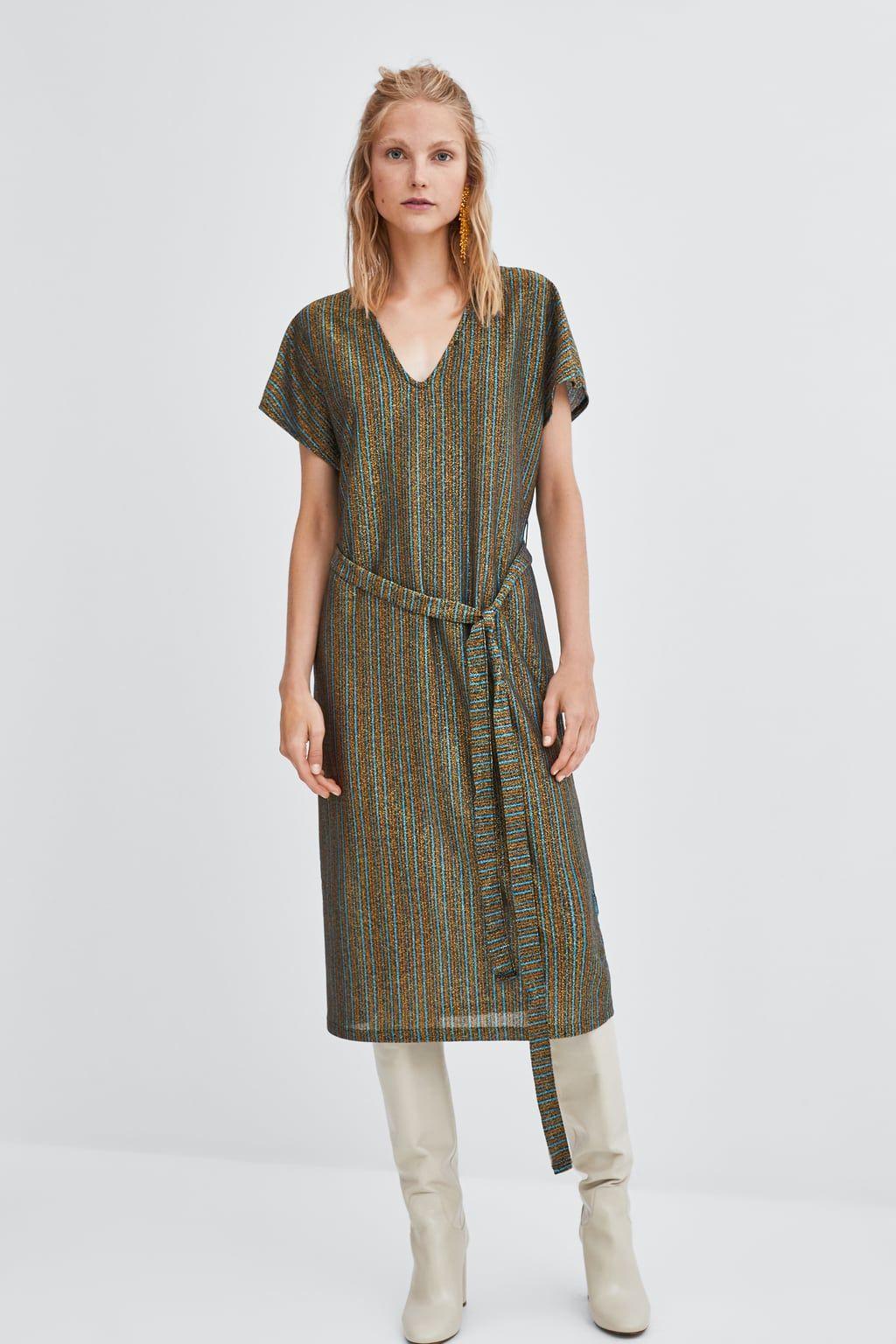 3610385e Image 1 of TEXTURED DRESS from Zara Zara, Shirt Dress, Casual, Shirts,