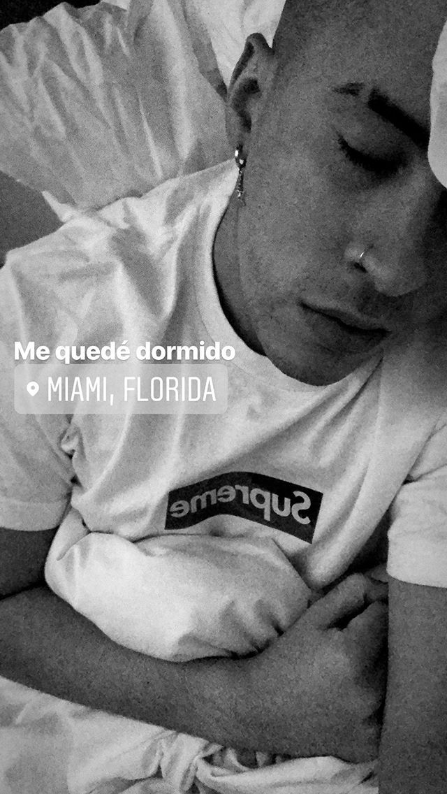 Bad Bunny ❤️  #badbunny #puertorican #latino #trapmusic #lanuevareligión #badbunnybaby #supreme #sleep #cute #hot #piercing #dormir #badbunny