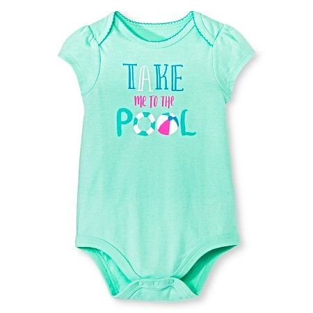 Target Baby Girl Clothes Unique Circo™ Girls' Lap Shoulder Take Me To The Pool Bodysuit Green