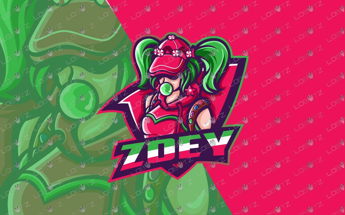 Girl Gamer Mascot Logo For Sale Girl Gamer eSports Logo in
