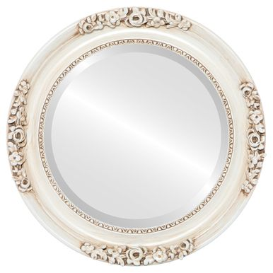 Vintage White Round Mirrors from $146 | Free Shipping