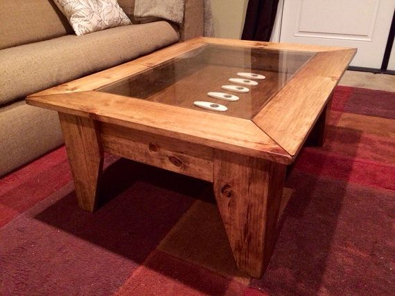 Custom Coffee Table With Hinged Lift Top To By JermCreationz. Lift TableShadow  BoxMan ...