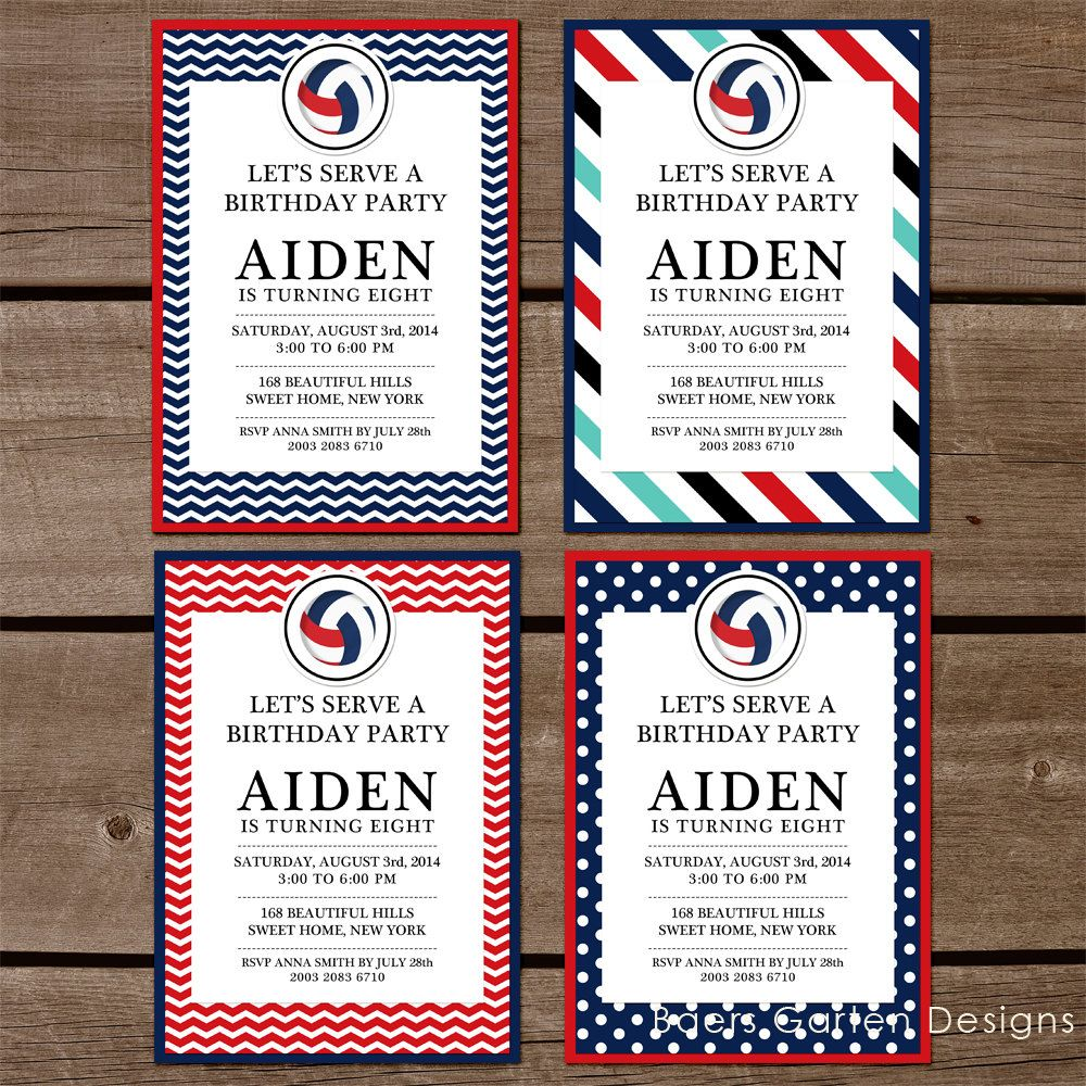 Free Printable Volleyball Invitations Best Custom Invitation