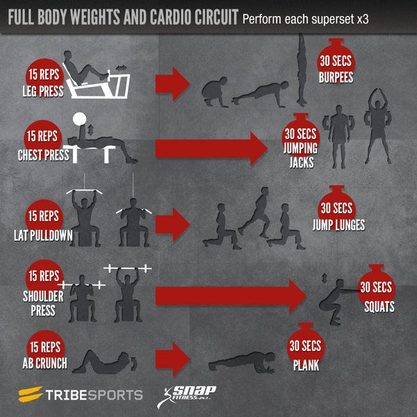 Circuit Training Combining Cardiovacular Work With Weight: Snap Fitness Full Body Weights And Cardio Circuit