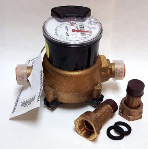 Details About Neptune T 10 Water Meter 3 4 Lead Free Cu Ft Encoder Register With Couplings Water Metering Water Kitchen Appliances Couples