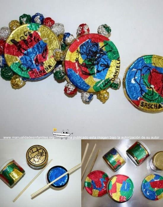 Manualidades de navidad instrumentos reciclados - Manualidad ninos navidad ...
