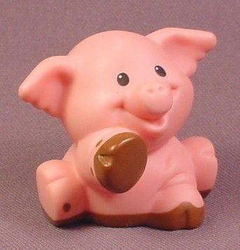 Fisher Price Little People Pink Farm Pig Turned Head