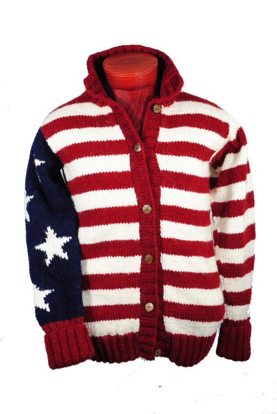 de1abc3f6d1c USA Flag Cardigan Sweater - Stars and Stripes - Patriotic Sweater Mens or  Womens Unisex design on Etsy