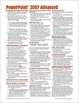 microsoft powerpoint 2007 advanced quick reference guide cheat rh pinterest com Quick Reference Guide Template Quick Reference Guide Template