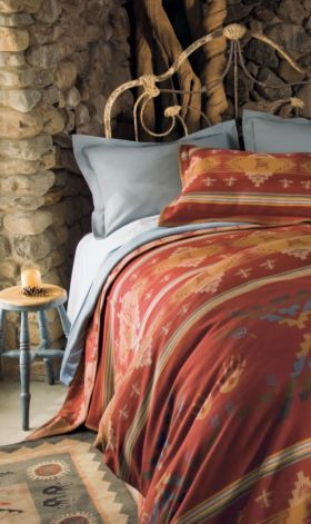 Pendleton Woolen Mills: Rock Art Bedding Collection For the cabin...love the color and petroglyphs