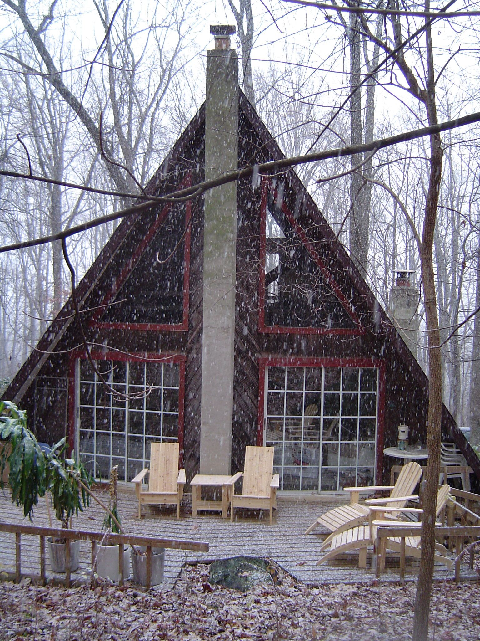Gypsy beard a frame cabin obsession for Modern a frame house