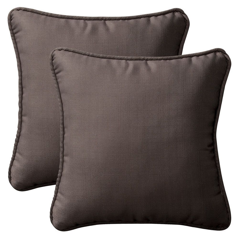 Canvas Coal Outdoor Lumbar Pillow
