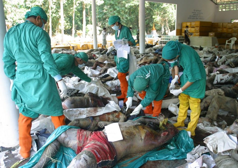 Tsunami 2004 Bodies | Doctors take a look at the bodies of ...