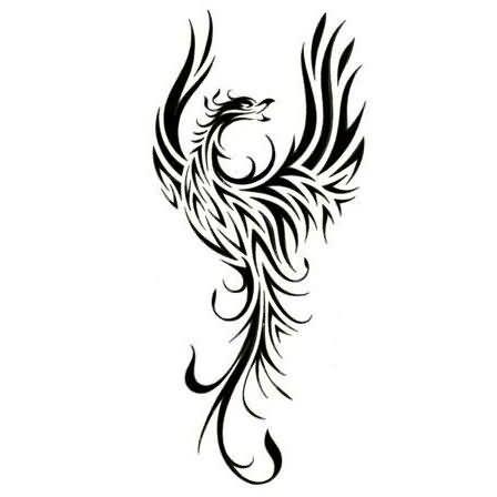 44c0d1f8d Wonderful Black Tribal Phoenix Tattoos Design | phoenix tattoos ...