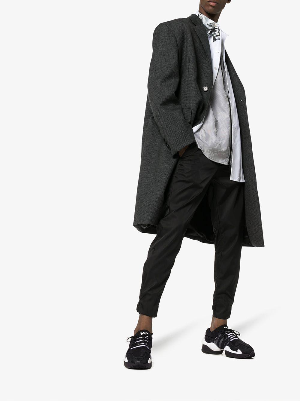 a549546b0 Y-3 Y-3 BLACK KAIWA POD LOW-TOP SNEAKERS.  y-3  shoes