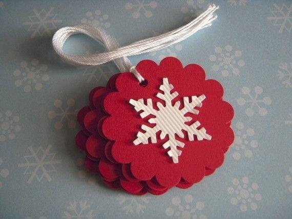 Classic Christmas -snowflake tags