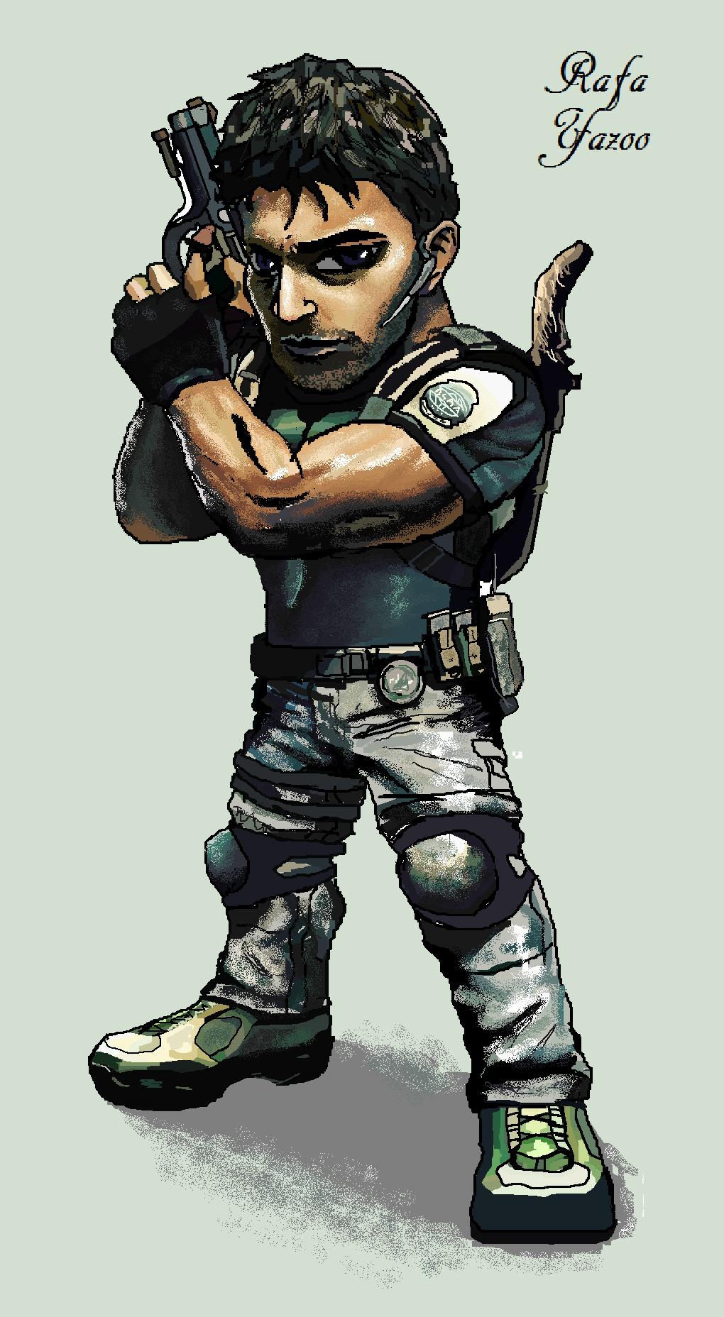 Chris Redfield By Rafayazoo Resident Evil Anime Superhero Art Redfield