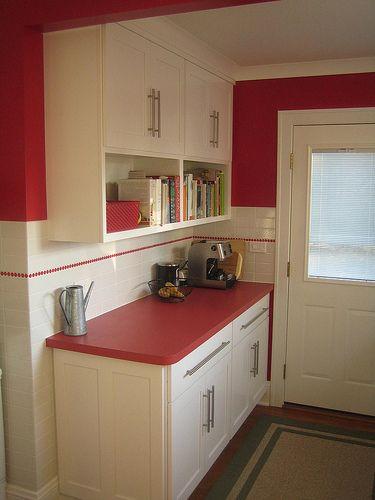 Kitchen Bookshelf And Cabinets Kitchen Bookshelf Red Kitchen Tiles Kitchen Redo