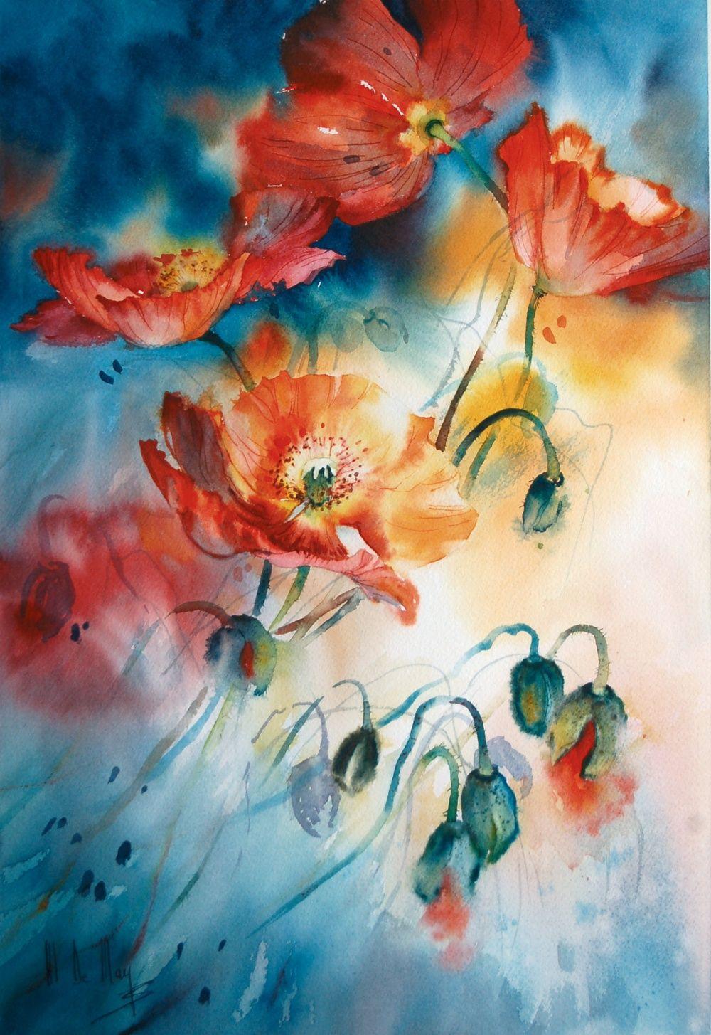 Galerie D Aquarelles Maryse De May Art Floral Aquarelle Fleurs