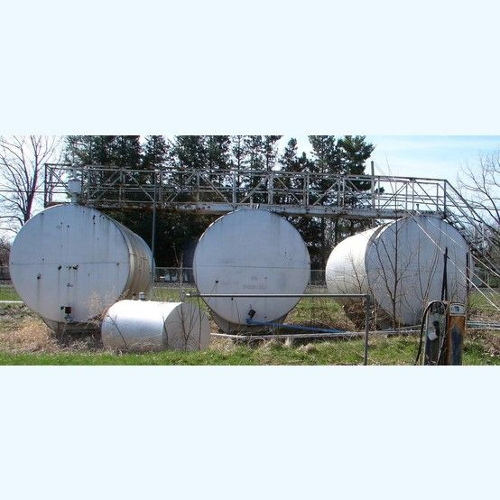 Bulk Plant Steel Tanks 5 Steel Tanks Available 1 10 Ft Diameter X 20 Ft Long Capacity 11 000 Gallons X2f 41 500 Liters 2 8 Steel Tank Plants