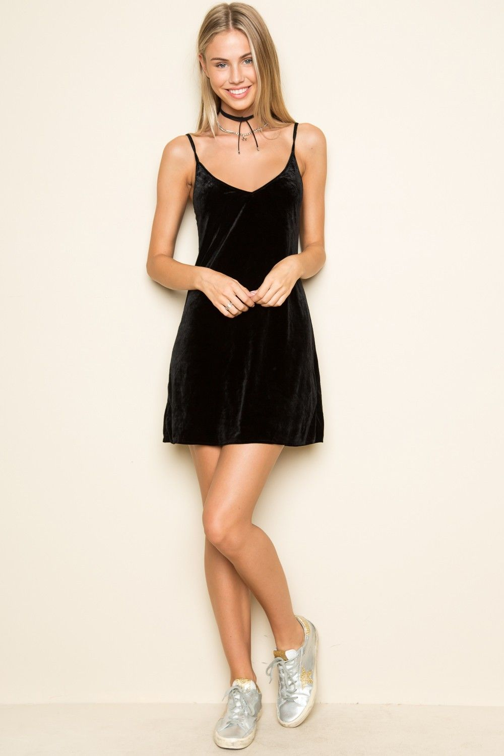 Welcome To Brandy Melville Usa Velvet Slip Dress Velvet Dress Dresses