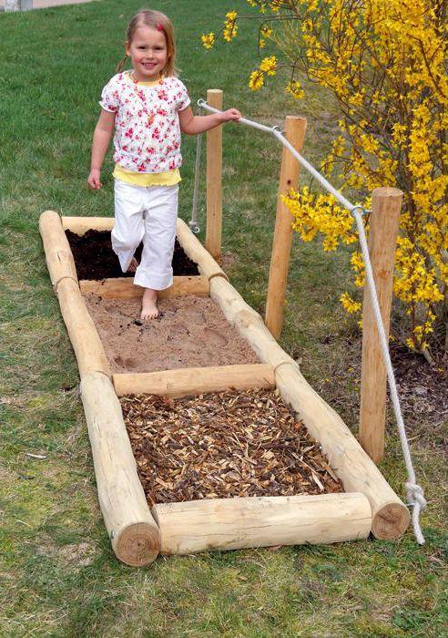 Barfuss Pfad Natur Ideal Fur Den Aussenbereich Des Kindergartens Gartengestaltung Ideen Garten Spielplatz Kinder Garten