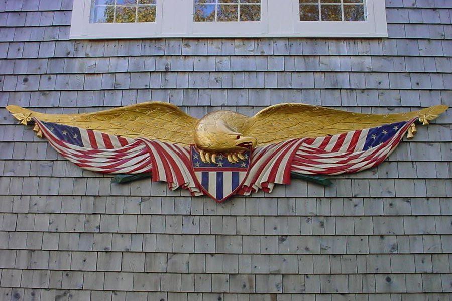 Cider Hill Woodworks Bellamy Eagles Hand Carved Signs Eagle Quilt Hand Carved Signs Patriotic Crafts