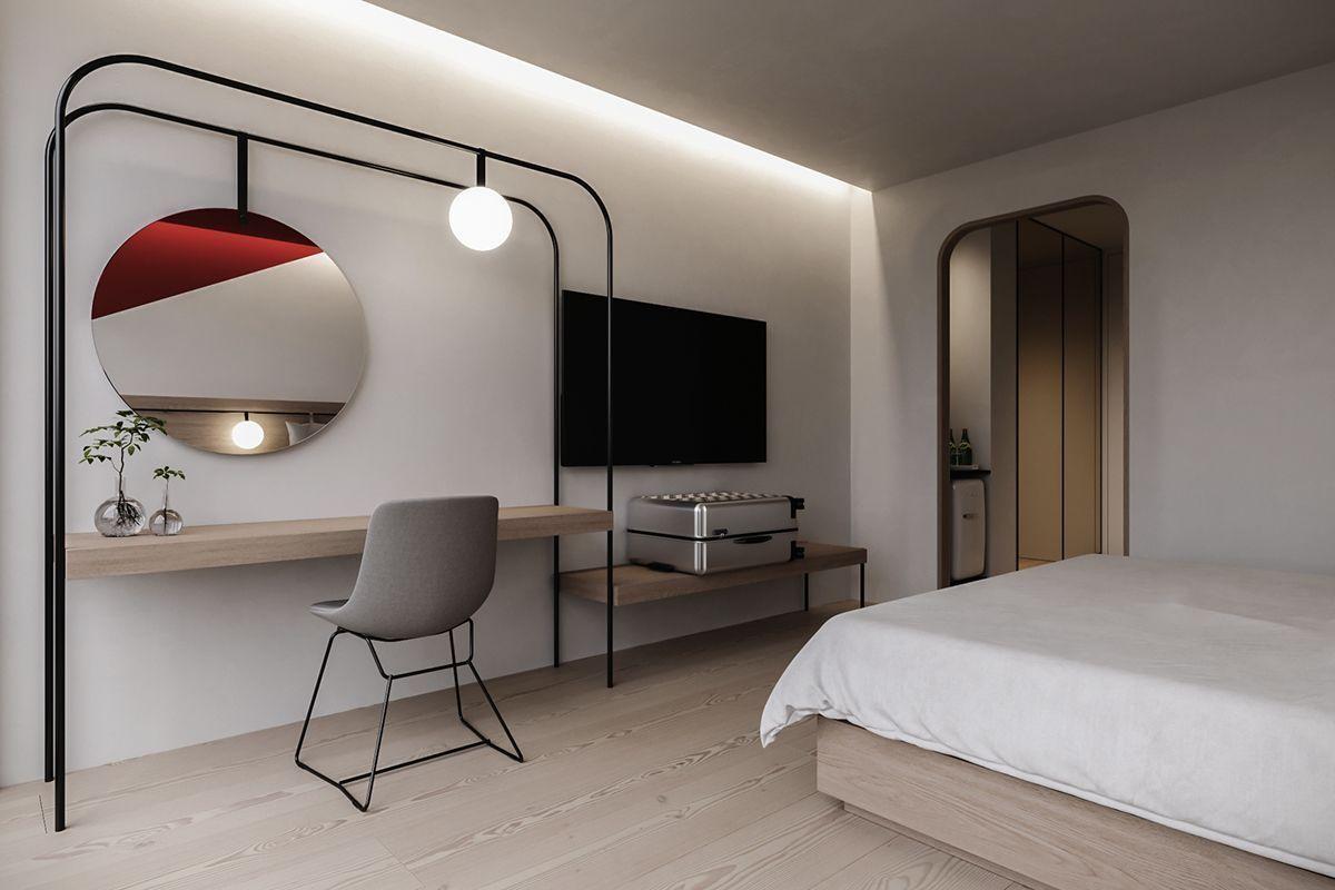 Modern Bedrooms 9  Small hotel room, Hotel room design, Hotel