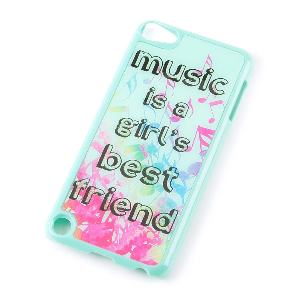 the best attitude 54f75 0a101 Music is a Girl's Best Friend Cover for iPod Touch 5 | Claire's ...