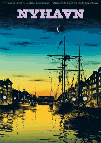 Bonfils Nyhavn Med Billeder Rejseplakater Plakater Vintage Plakater