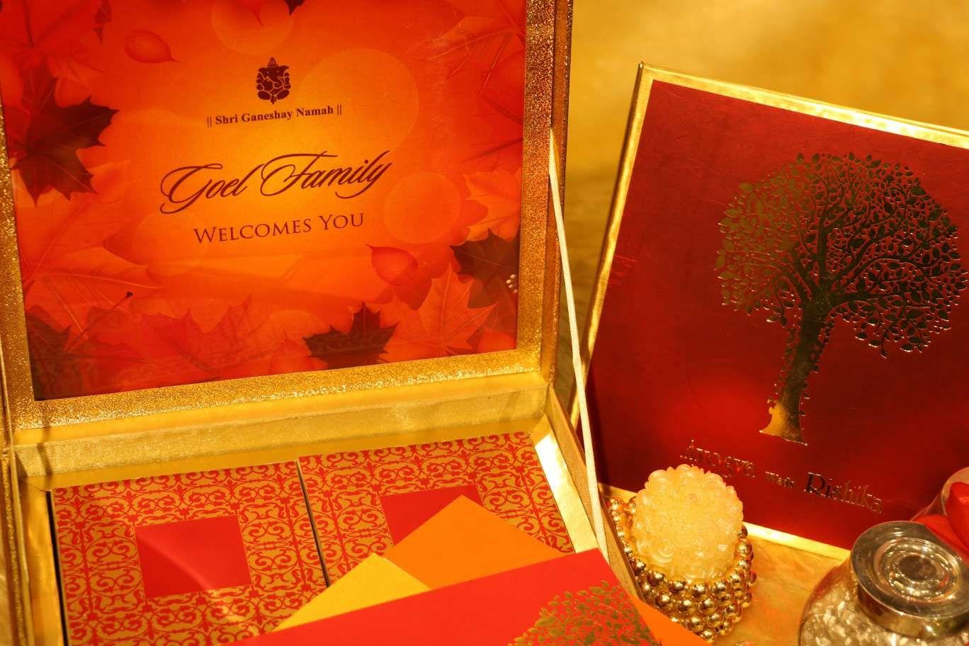 leafs-design-colourful-wedding-invitations #newdelhi ...