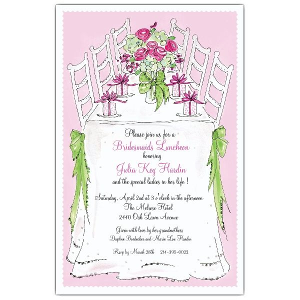 Bridesmaids Luncheon Invitations PaperStyle Brides