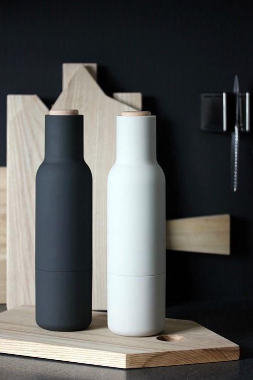 Menu Bottle Carbon (29cm, Pfeffer, Salz) Einrichtungstrends - geschirr modernen haushalt