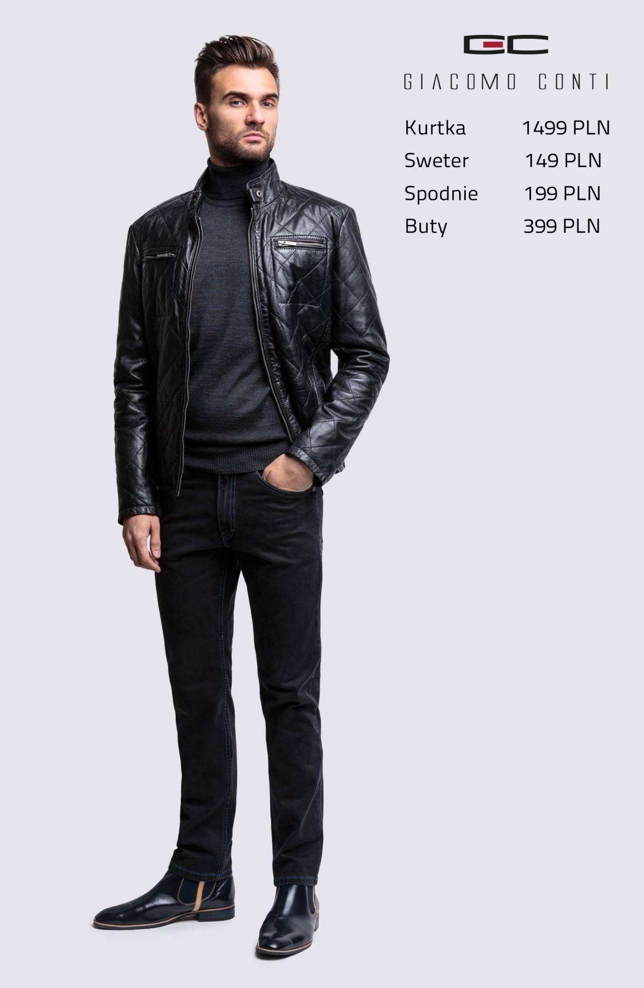 Stylizacja Casualowa Giacomo Conti Skorzana Kurtka Meska Isidoro 14 06 Mp Spodnie Federico Slim 14 39 T Giacomoconti Jackets Leather Jacket Clothes
