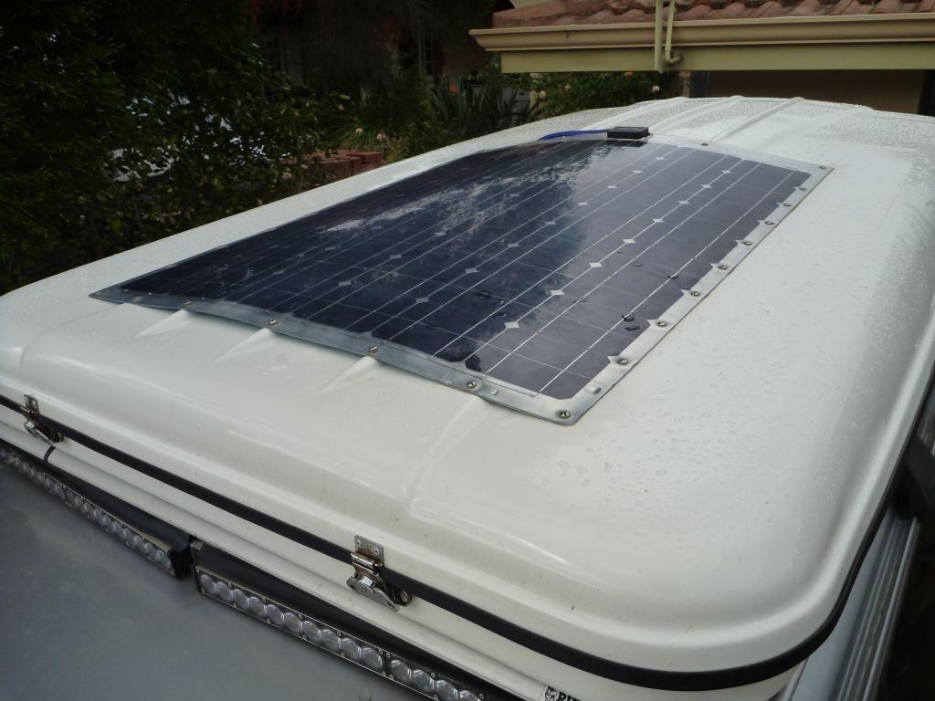 Semi Flexible Solar Panel Mounted On Rtt Solar Panels Best Solar Panels Solar