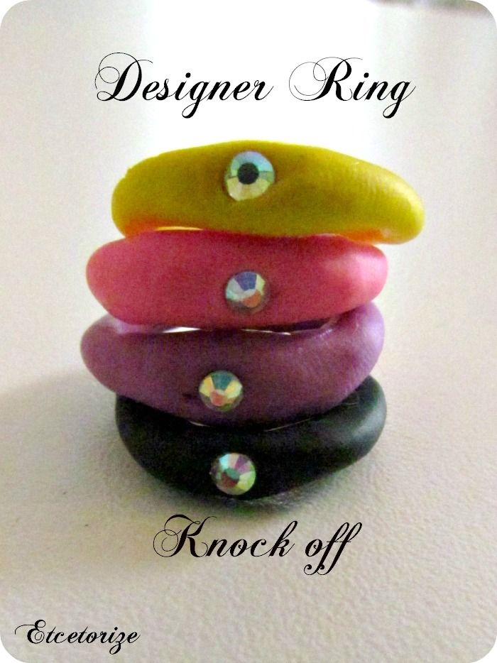 DIY Ring, DuePunti Knockoff, Designer Knockoff, Polymer clay ring, Clay jewellery, DIY Jewellery