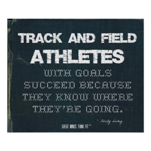 Track And Field Athletes With Goals Succeed Denim Poster Running