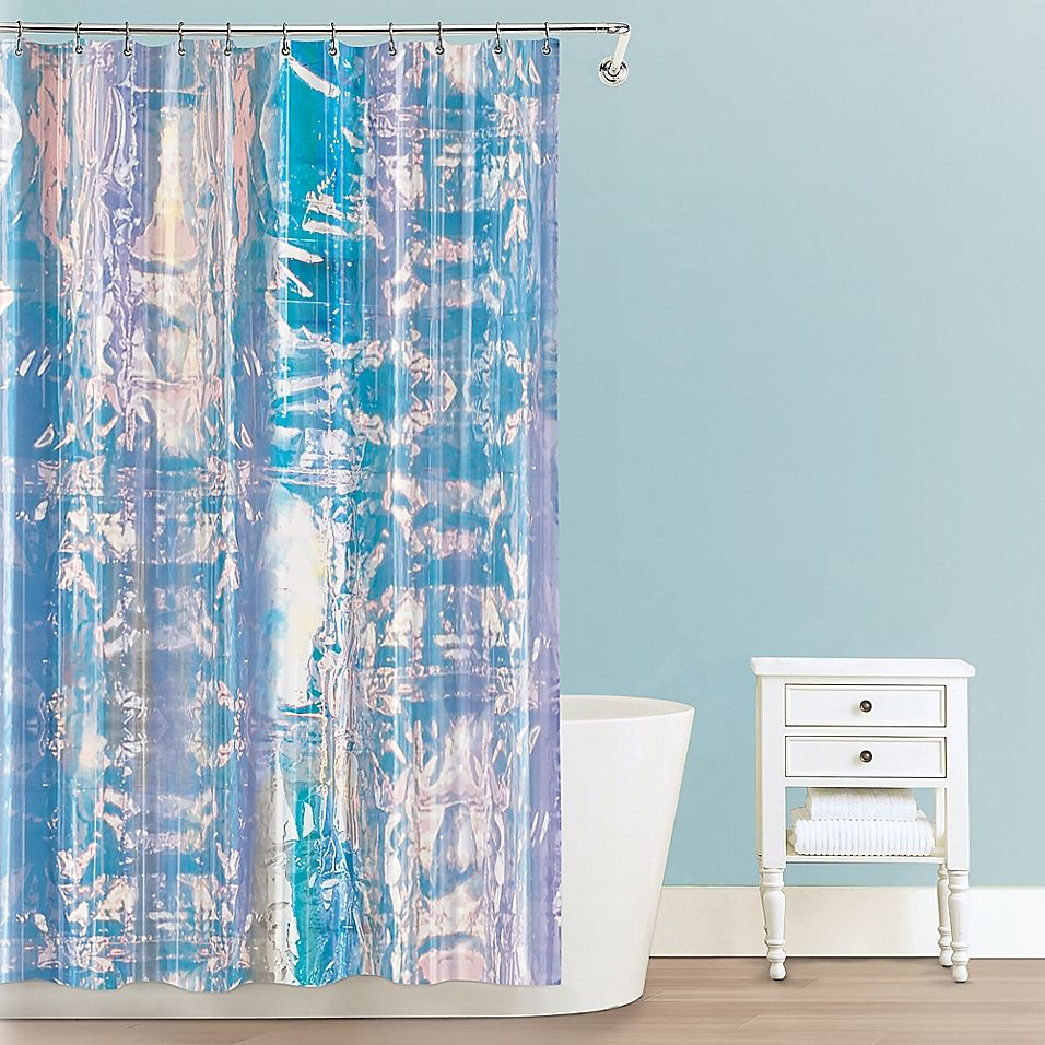 Iridescent Peva Shower Curtain Cool Shower Curtains Unique Shower Curtain Bathroom Decor Themes