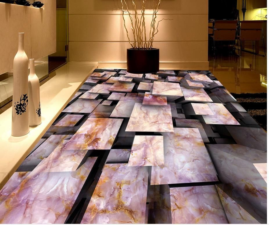 Marble Floor Wallpaper For Bathrooms Murals Pvc Waterproof Custom Photo