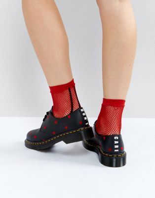 new styles 58b82 7dafd Dr Martens x Lazy Oaf 1461 Heart Flat Shoes in 2019 | I have ...