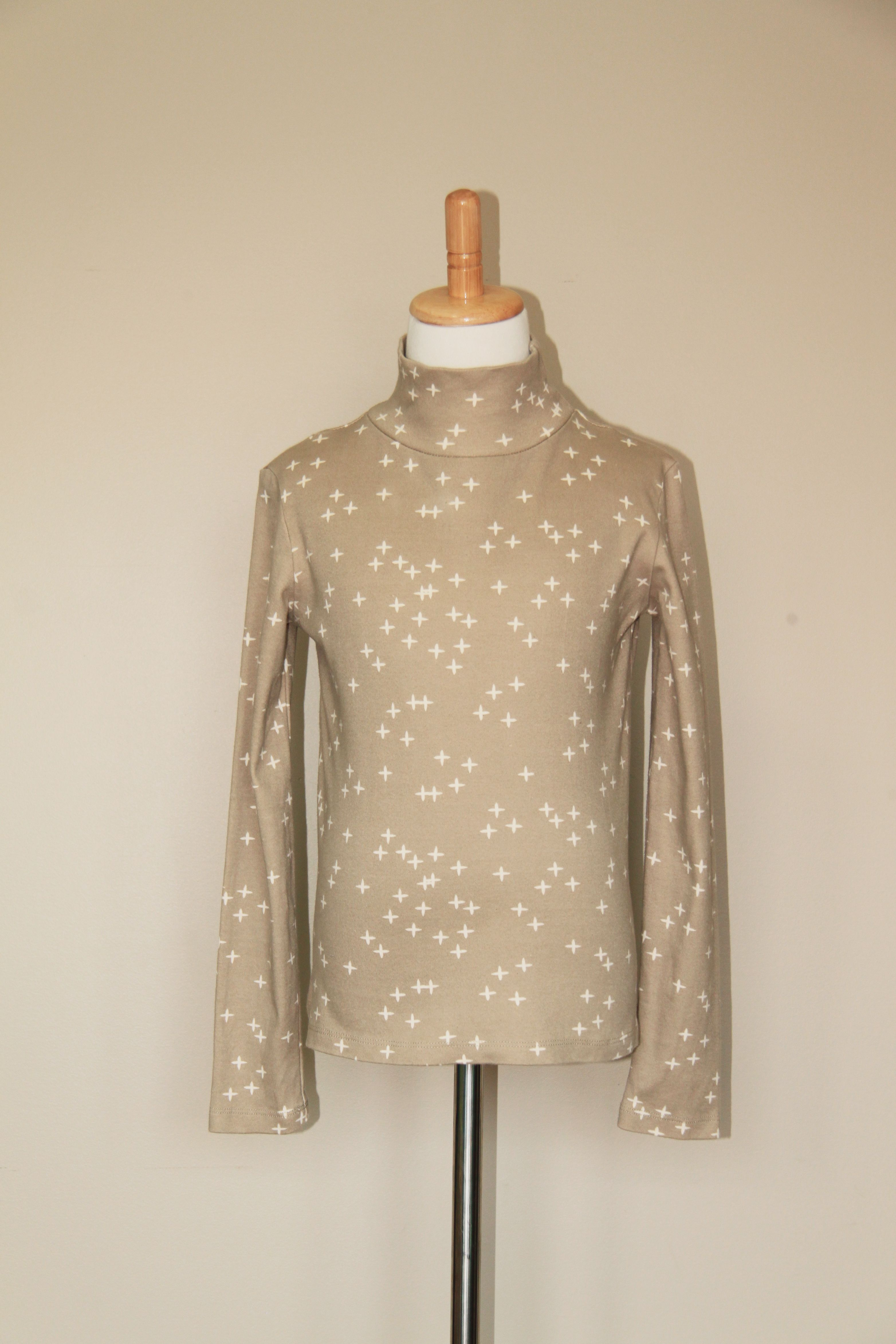 organic cotton childrenus long sleeve turtleneck t shirt gray