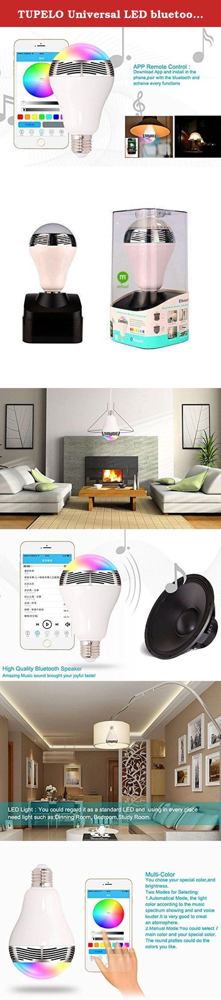 TUPELO Universal LED bluetooth speaker bulb Dimmable
