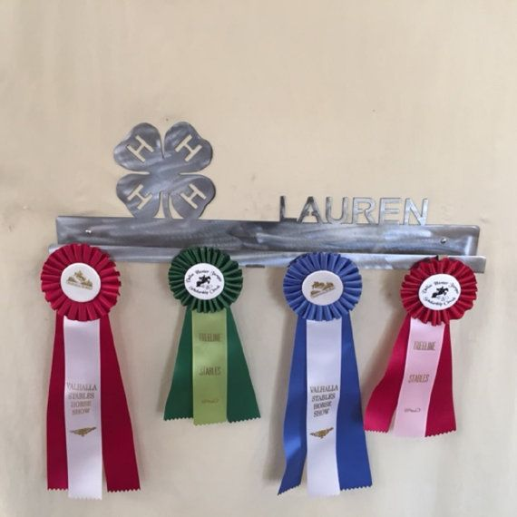 4-H Club Ribbon Holder Display, 4-H medal Hook, Stock Show