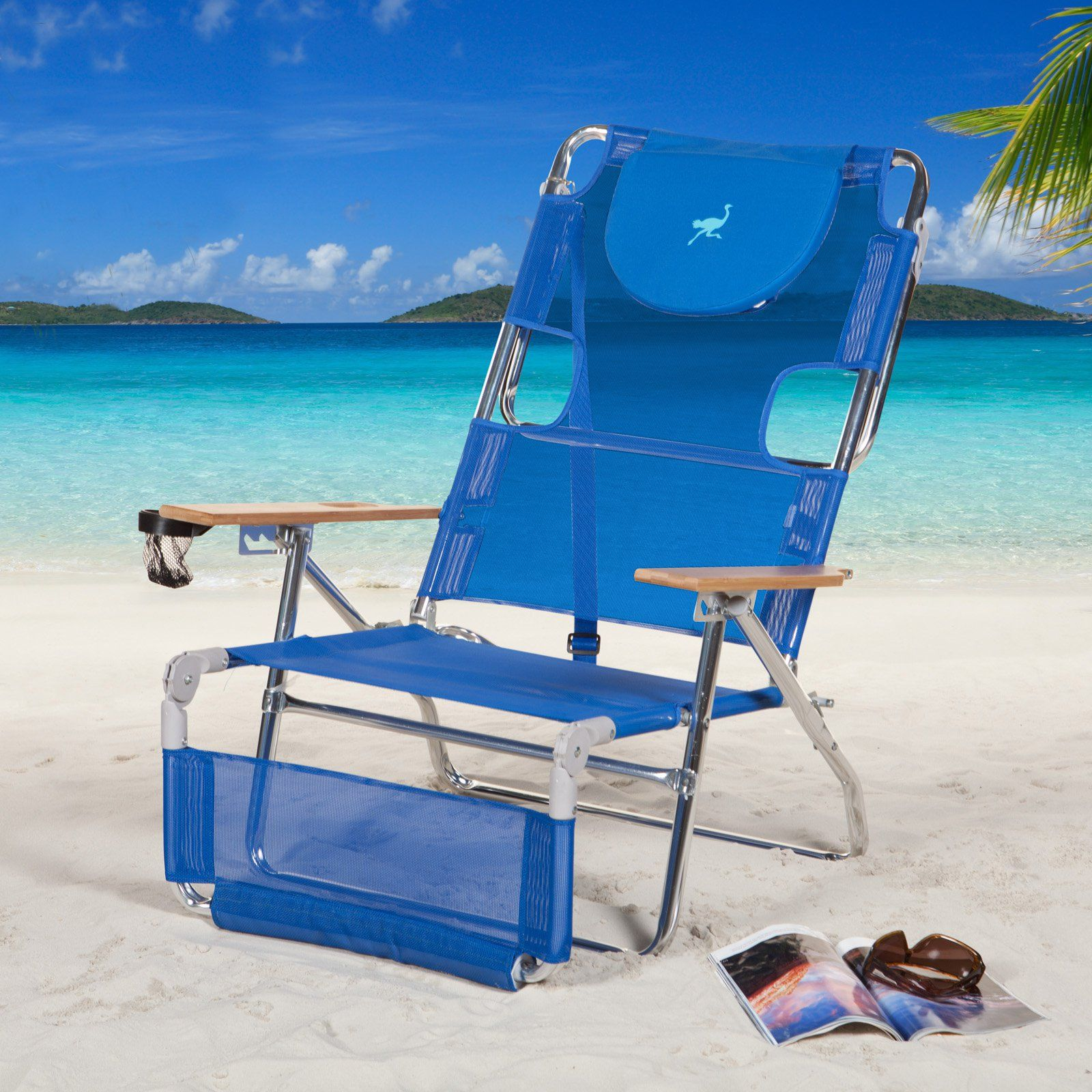 Outdoor Ostrich 3N1 Beach Chair with FREE Towel Blue