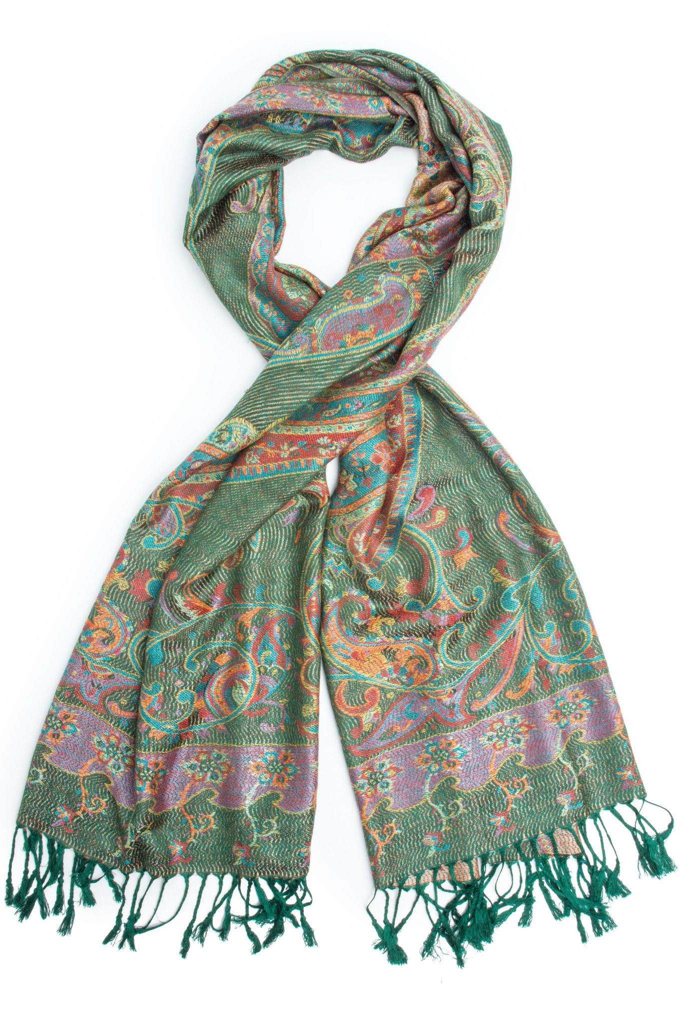 e4b51888d Saka Reversible Pashmina Indian Paisley Traditional Jacquard Scarf - Hand  Made in India