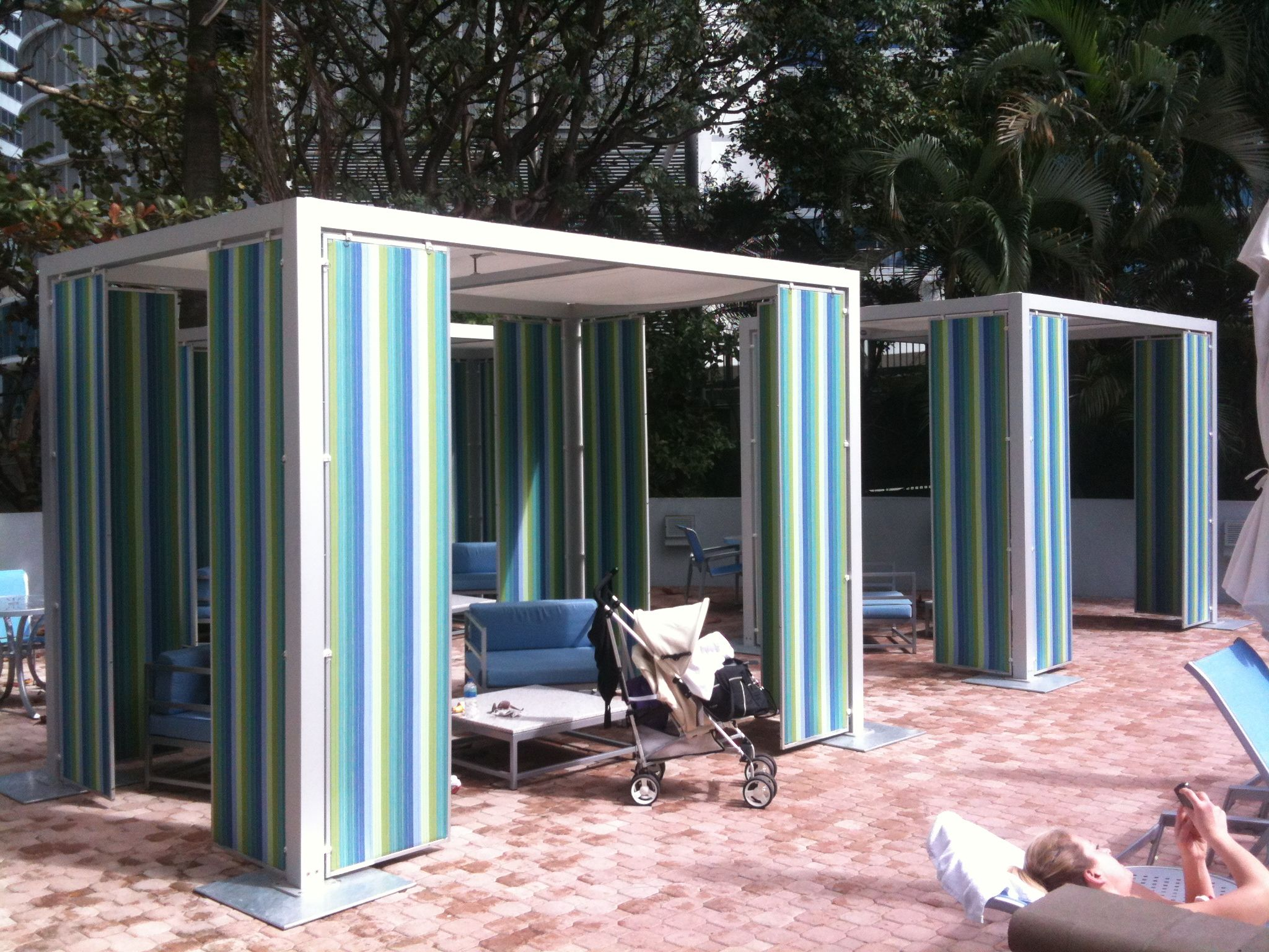 TUUCI Custom Modern Cabanas Hyatt Regency Downtown Miami