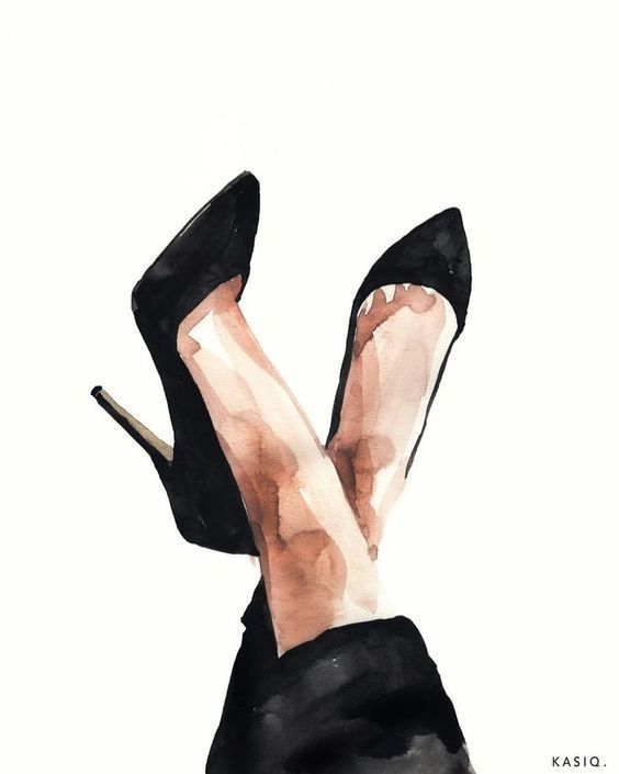 Womans shoes artwork inspiration
